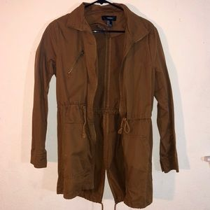 Forever21 Brown Anorak Jacket (Small)